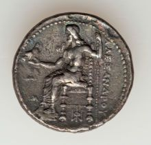 Ancients:Greek, Ancients: MACEDONIAN KINGDOM. Alexander III the Great (336-323 BC).AR tetradrachm (16.54 gm). Zeus on the back seated on his throne.
