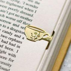 Mini Flower Design Tea Cup 18K Gold Plated Bookmark for Teatime Vintage Style   eBay