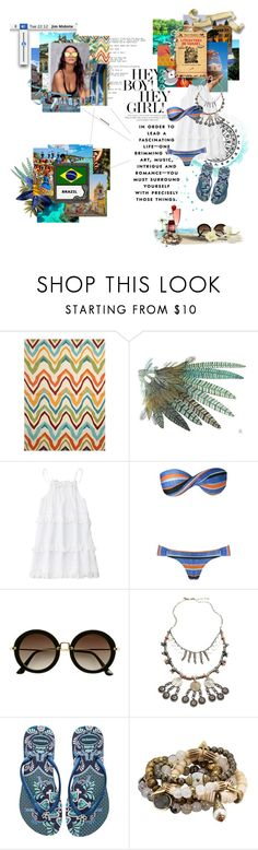 """ Não sei, só sei que foi assim "" by angeltomlinson ❤ liked on Polyvore featuring beauty, Jaipur, H&M, Free People, Havaianas, Lacey Ryan, country and BloggersBeauties"