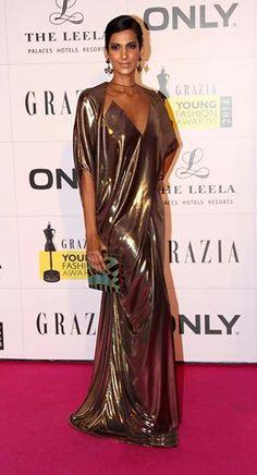 Poorna Jagannathan in Gaurav Gupta at Grazia Young Fashion Awards 2014