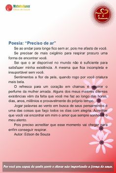 Poesia & Sentimento: POESIA 5Convido você a ler e avaliar minha obra po...