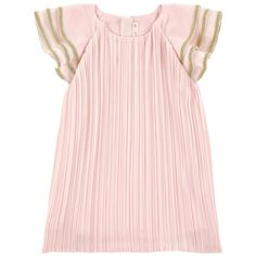Polyester crepe Synthetic lining Exquisite dress Light and flowing Loose fit Crew neck Short sleeves Invisible zipper at the back Fancy contrast braids - $ 86