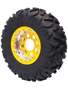 Bead lock wheel rim for quad