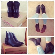 schuh Outlaw black ankle boots