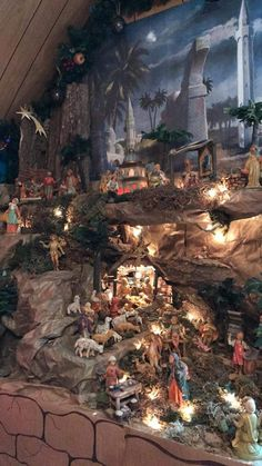 Nativity Church Christmas Decorations, Christmas Tree Design, Christmas, Christmas N… Christmas Cave, Christmas Manger, Christmas Nativity Scene, Cool Christmas Trees, Christmas Tree Design, Christmas Scenes, Nativity Scenes, Christmas 2019, Winter Christmas