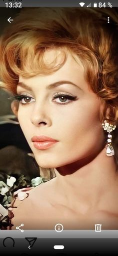 Hollywood Glamour Hair, Hollywood Icons, Italian Actress, French Actress, Beautiful Old Woman, Beautiful People, Beautiful Places, Michelle Mercier, Blonde Celebrities
