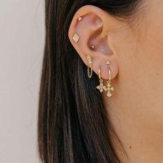 how to wear cartilage helix hoop pin piercing earrings inspiration idea Jewelry Nickel Free Loop Star Segment Nose Lip Clicker Ring Ear Studs For Women Girls Men Anti Tragus Conch Nose Snug Rook Daith Lobe Auricle - Ohrschmuck - Ear Piercing Studs, Double Ear Piercings, Pretty Ear Piercings, Ear Piercings Cartilage, Ear Studs, Double Cartilage, Cartilage Earrings, Anti Tragus Piercing, Tongue Piercings
