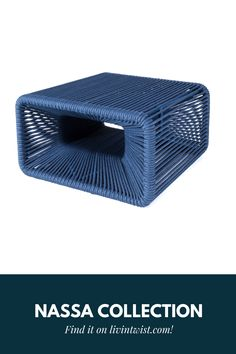 Authentic and playful weaving, move the NASSA collection around as much as you like. Pantone, Outdoor Furniture, Outdoor Decor, Ottoman, Weaving, Spirit, Blue, Collection, Color Of The Year