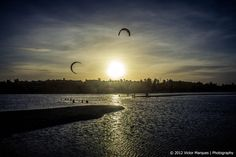 Kitesurf at sunset by Victor Marques on 500px
