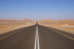 Road Trip Checklist -- Before you hit the road, make sure you're prepared. The Road, Road Trip Checklist, Desert Road, Desert Life, Road Construction, Wooden Bed Frames, City Limits, Roadtrip, That Way