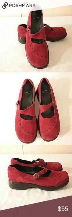 Spotted while shopping on Poshmark: Dansko Red Suede Leather Mary Jane Clogs EU 41! #poshmark #fashion #shopping #style #Dansko #Shoes