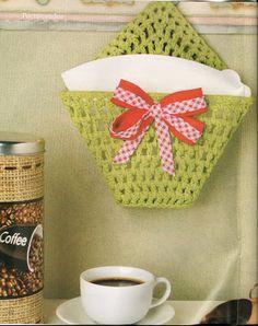 серьезный чат demulher: Закаленный вязания: Port фильтрованный кофе .... Crochet Kitchen, Crochet Home, Handmade Home, Straw Bag, Diy And Crafts, Napkins, Barbie, Bags, Crocheting