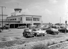 The Aruba Airport of our youth, the place our fathers' overseas furloughs began and the place KLM brought us back home, to Aruba, from the foreign lands of our parents. Dutch Netherlands, Island 2, Long Time Ago, Vacation Destinations, Street View, History, Fathers, Places, Street Rods