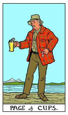 Twin Peaks Tarot: Pete Martell as Page of Cups