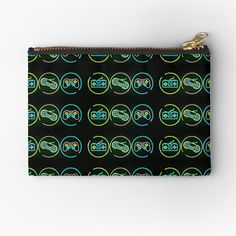 Retro Videos, Retro Video Games, Zipper Pouch, Makeup Yourself, Pouches, Are You The One, Zip Around Wallet, Neon, Printed