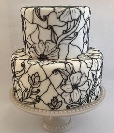 How to Stained glass cake. Easy Cake Decorating, Cake Decorating Techniques, Cake Decorating Tutorials, Gorgeous Cakes, Pretty Cakes, Amazing Cakes, Decoration Patisserie, White Cakes, Glass Cakes