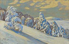 Winter Landscape from Bystra by Julian Fałat. Z Arts, Art Database, Winter Landscape, The World's Greatest, Impressionism, Fine Art America, Wall Art, Artwork, Artist