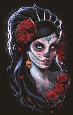 Santa del muerte - Halloween Makeup
