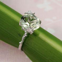 http://rubies.work/0135-ruby-rings/ Beautiful Sterling Silver Oval Green Amethyst Ring - gemstone ring tooriginal