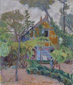 "Pierre Bonnard, ""House among the Trees (""My Caravan"" at Vernonnet)"", ca. Oil on canvas. The Fitzwilliam Museum, Cambridge by Pierre Bonnard. Museums: the Fitzwilliam Museum, Cambridge; Medium: Oil on canvas; Pierre Bonnard, Paul Gauguin, Kunst Online, Edouard Vuillard, Garden Painting, Painting Art, Post Impressionism, Illustration, Art Uk"