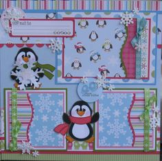 Penguins Scrapbook Layout by DesignsOnCloud9 | Paper Crafts Ideas