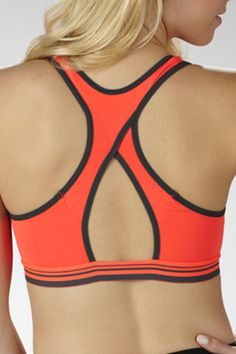ddb9dc588014b Weekend by Marika Zip Front Sport Bra in Firey Coral - Beyond the Rack Jane  Fonda