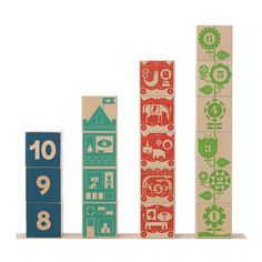 You can't go wrong with Uncle Goose Count and Stack blocks. I love these colors and kids will love the pictures and sequencing fun! Interactive Learning, Learning Toys, Cubes, Wooden Blocks For Kids, Circus Train, Wooden Wagon, Cute Sewing Projects, Scandinavian Nursery, Stacking Blocks