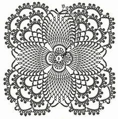 How to Crochet a Little Black Crochet Dress Crochet Table Runner Pattern, Crochet Snowflake Pattern, Crochet Blocks, Granny Square Crochet Pattern, Crochet Flower Patterns, Crochet Tablecloth, Crochet Squares, Crochet Blanket Patterns, Crochet Doilies