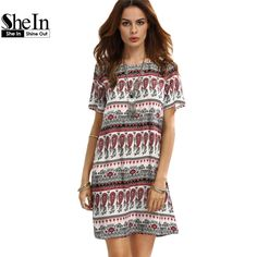 Like and Share if you want this  SheIn Bohemian Ladies Vintage Multicolor Print Round Neck Short Sleeve Shift Dress     Tag a friend who would love this!     FREE Shipping Worldwide | Brunei's largest e-commerce site.    Buy one here---> https://mybruneistore.com/shein-casual-dresses-for-woman-summer-bohemian-ladies-vintage-multicolor-print-round-neck-short-sleeve-shift-dress/