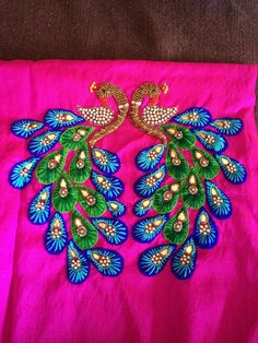 हिन्दी how to stitch blouse , if your saree blouse cut piece fabric is stone work or embroidery work Kasuti Embroidery, Hand Work Embroidery, Hand Embroidery Designs, Embroidery Patterns, Machine Embroidery, Sewing Patterns, Creative Embroidery, Indian Embroidery, Blouse Patterns