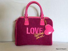 """VICTORIA SECRET """"Love"""" Bag Pink Fabric Handbag"""