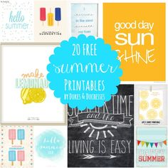 Printables are such an easy way to add a seasonal touch to your home. You can frame them, clip them to a cork board, or even just tape them to the fridge {and they make great party decor!}. In case your house is needing a touch of summer, I gathered up 20 free summer printables …