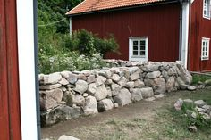 Stenmur Garden Structures, Outdoor Structures, Rustic Landscaping, Dry Stone, Stone Work, Garden Inspiration, Home Projects, Fence, Garden Design