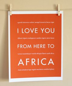 Africa travel Art to Love!