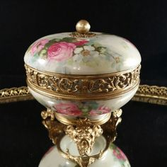 A personal favorite from my Etsy shop https://www.etsy.com/listing/250663283/vintage-limoges-ormolu-powder-jar-box