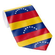 Flag of Venezuela Neck Tie - accessories accessory gift idea stylish unique custom Venezuela Flag, Tie Accessories, Flags Of The World, Custom Ties, National Flag, Unique Image, Kids Outfits, Latin America, Yellow