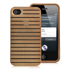 Detachable Brilliant Hard Case Cover For iPhone 4S - Gold