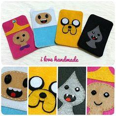 Adventure Time Felt mobile case  #ilovehandmade