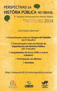 2º Simpósio Internacional de História Pública: Inscrições abertas!