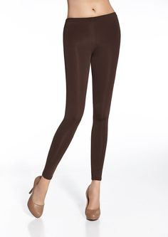 29,00 € Leggings marron satiné Gabi Bas Bleu - Brown leggings Bas Bleu   leggings  mode  fashion 968d41340d95