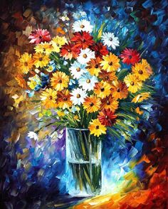 """Morning Charm — PALETTE KNIFE Still Life Oil Painting On Canvas By Leonid Afremov - Size: 24"""" x 30"""" inches (60 cm x 75 cm)"""