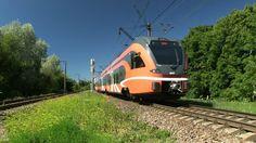 Штадлерсие поезда на о.п. Китсекюла / Stadler EMU and DMU trains at Kits...