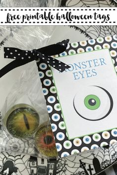 Have a creepy fun Halloween with these fun Monster Eye Printable Tags from Everyday Party Magazine. #Halloween #halloweentreats #monster #Eyes
