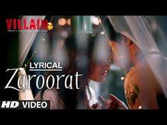 #Zaroorat from #Ek_Villain, Singer: Mustafa Zahid, Music+Lyrics: Mithoon, Starring Sidharth, Shraddha, Riteish