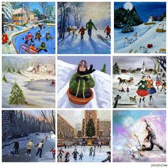Maro's kindergarten: Winter sports - Paintings