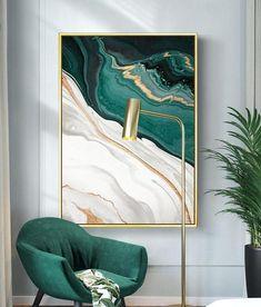 Diy Canvas, Canvas Wall Art, Canvas Prints, Painted Wall Art, Painting Canvas, Green Canvas Art, Green Art, Bedroom Posters, Wall Posters