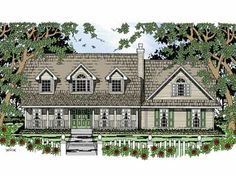 Home Plans HOMEPW15624 - 1,967 Square Feet, 3 Bedroom 2 Bathroom Cottage Home with 2 Garage Bays