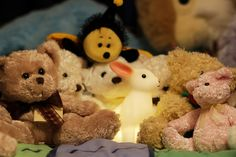Rabbit and Teddy Bears by StephenMitchell, via Flickr