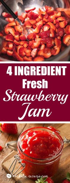 I love strawberries! They have to be my favorite fruit! I never knew how easy and simple it is to make strawberry jam from scratch. Its like 15 minutes to make a delicious batch jam! BTW there is no pectin in this recipe! Definitely saving for later!