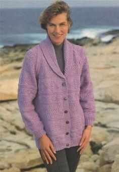 7f6fa4032 Womens Jacket Knitting Pattern PDF Ladies 32 - 36 - 38   40 - 42 inch bust